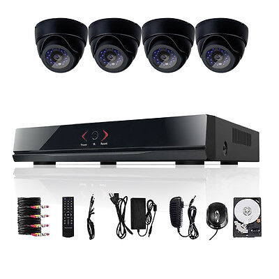 8CH 960H HDMI H.264 DVR 600TVL 4 Indoor CCTV Security Camera System 500GB TECBOX 500 Gb H. 264 Dvr