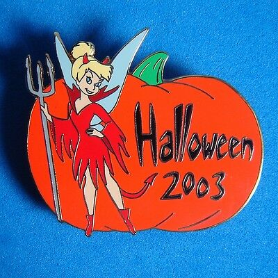 Tinker Bell Dressed as Devil Halloween Disney Auctions Pin LE 100 Pumpkin - Tinkerbell Halloween Pumpkin