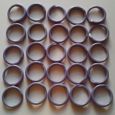 """50 PURPLE Poultry Spiral ID Leg Bands Standard Size 11 Chicken 11/16"""" One Color"""