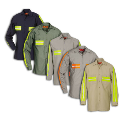 Enhanced Visibility Work Shirts Reflective REED Long Sleeve Industrial Uniform