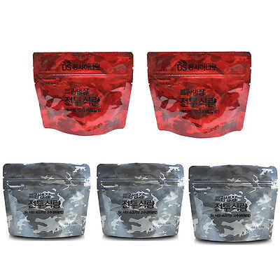 Korean Military Food Camping Rice Meal Combat Emergency Rations 5pcs Outdoor for sale  Shipping to Canada
