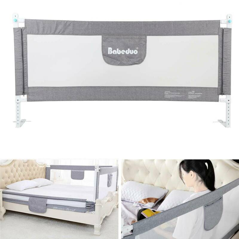 177cm Baby Guard Bed Rail Toddler Safety Adjustable Kids Inf