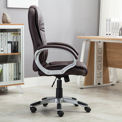 High brown PU Leather Executive Office Desk Task Computer boss luxury Chair NEW 3
