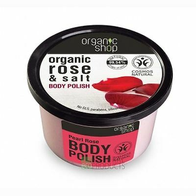 Organic Shop Body Polish Natural Rose and Salt 250ml