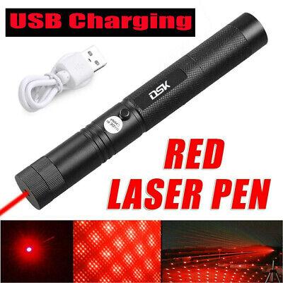 990miles Upgraded Red Laser Pointer Pen Light Star Beam Rechargeable Usb Laser