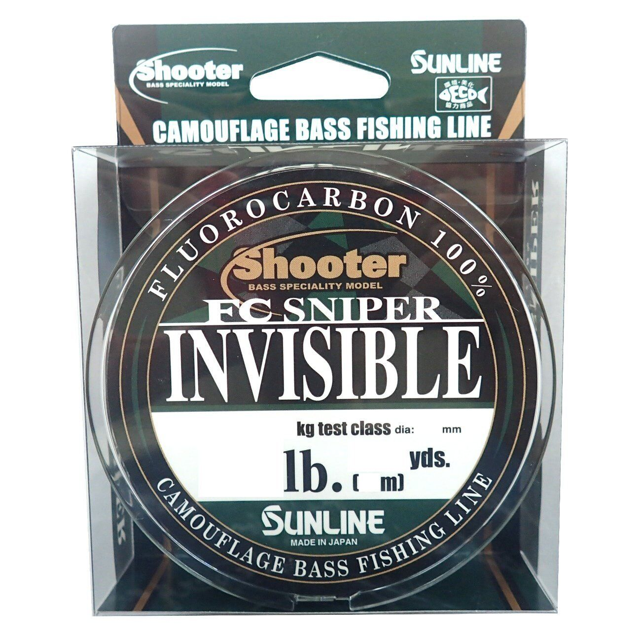 75m Select LB Fluorocarbon Line SUNLINE Shooter FC SNIPER INVISIBLE 82.5yds