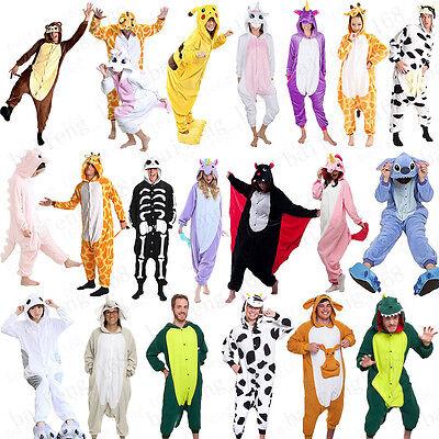 Adult Animal Halloween Costume (Unisex Adult Pajamas Animal kigurumi pokemon Cosplay Costume Jumpsuit)