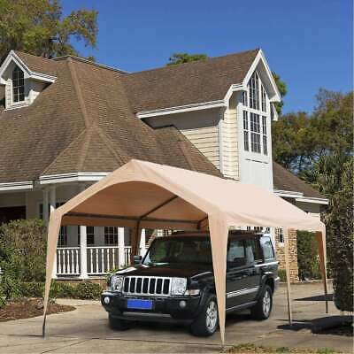 Abba Patio 10 x 20-Feet Domain Outdoor Carport Canopy with 6 beige