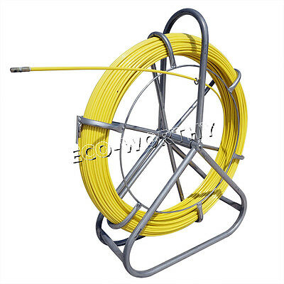 130m 6mm Fish Tape Fiberglass Wire Cable Running Rod Duct Rodder Fishtape Puller