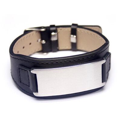 Armband mit individueller Gravur Herrenarmband Damenarmband Unisex Leder LA-B