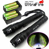 2X Police 10000 Lumens Led Flashlight 18650 Cree T6 XML Torch +Battery +Charger