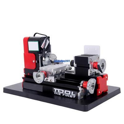 Mini Motorized Metal Lathe Machine 24W DIY Model Making Woodworking Tool