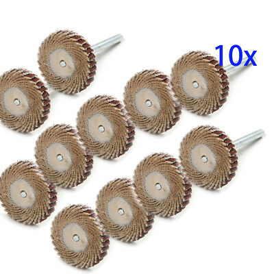 10x 240 Grit Sanding Buffing Sandpaper Flap Wheel Disc Power Rotary Tools