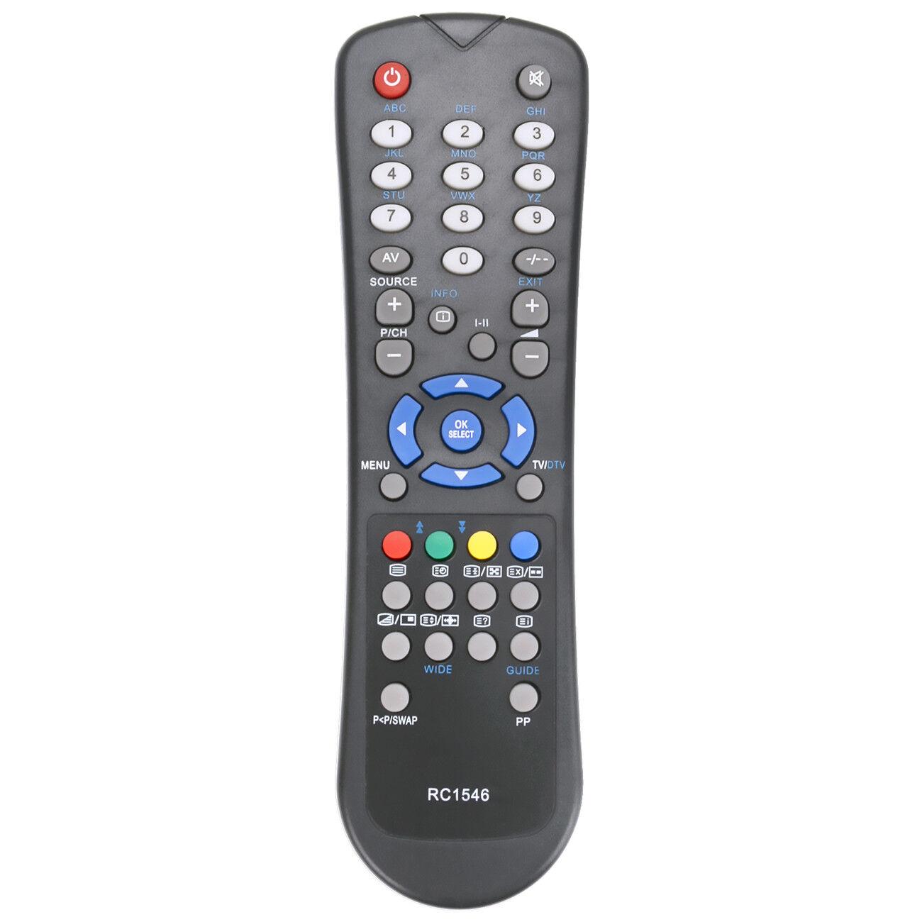 Nuovo telecomando sostitutivo RC1546 per GOODMANS GLCD32WDVBT IDLCD26TV22HD