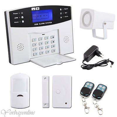 Haus Alarmanlage Set Funk Alarmsystem Wireless GSM/SMS Bewegungsmelder Telefon