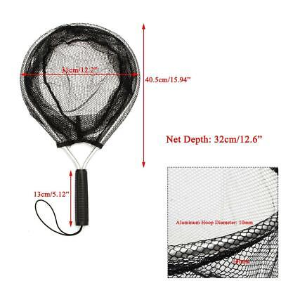 a2fb646da622 Aluminum Fishing Landing Handle Net Pocket Mesh Trout Bag Tackle Catch  Release