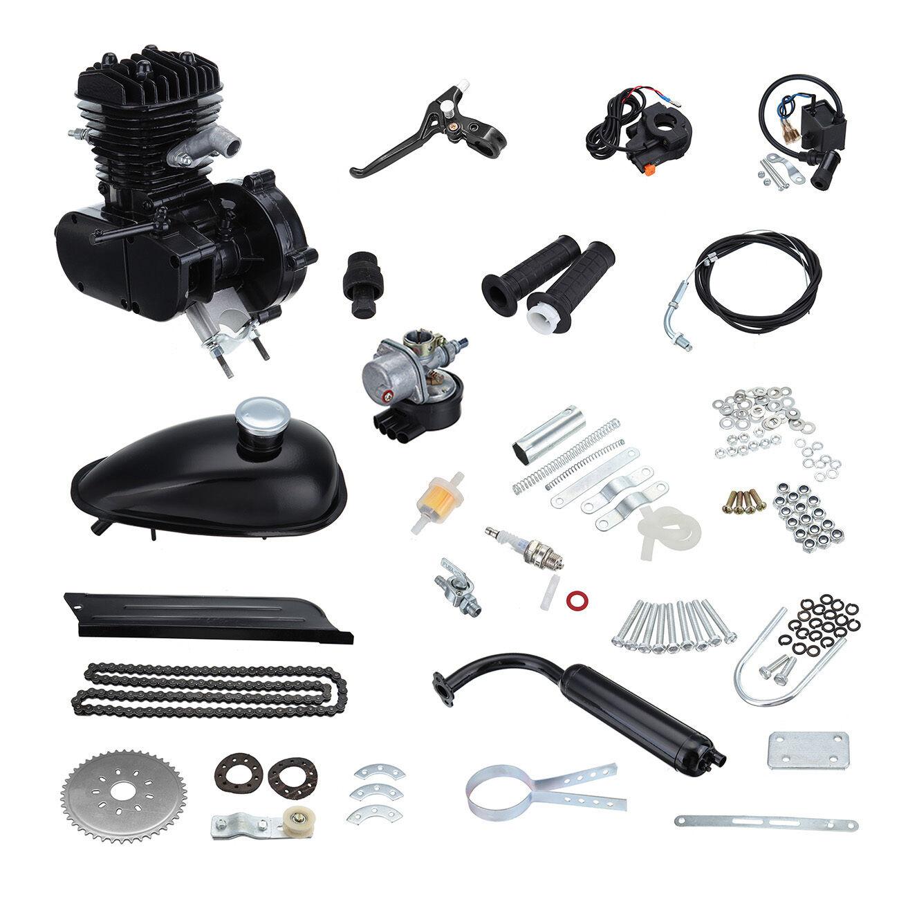 80cc 2 Stroke Petrol Gas Bicycle Motorized Bike Engine Motor Kit Single Cylinder