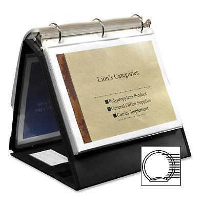 Lion Office Products Ring Binder Easel 1-12 Cap Horizontal 11x8-12 Black