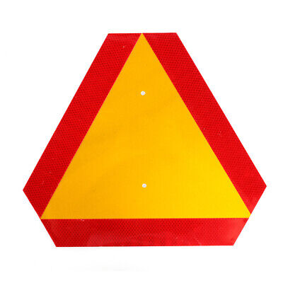 """Aluminum Slow Moving Vehicle Safety Sign Triangle Sign Reflective 14""""x16"""""""