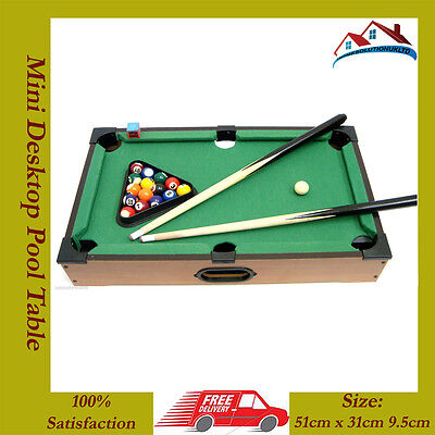 NEW Kids Mini Desktop Pool Table Set Billiard Table Tabletop Pool Table 20pc Set