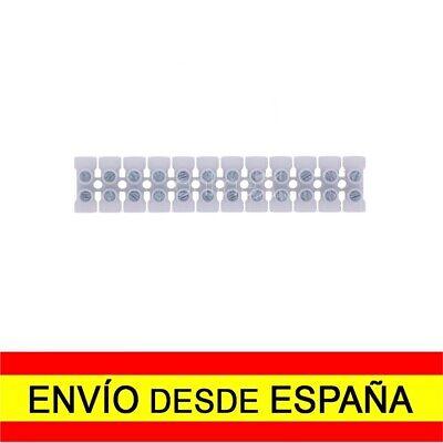 Regleta de 12 Secciones Conexiones Eléctricas 4mm 3 Amperios Blanca a4507