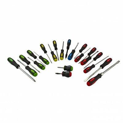 Neiko 22 PC Screwdriver Set | Color Code Soft Grip Handle Magnetic Tip