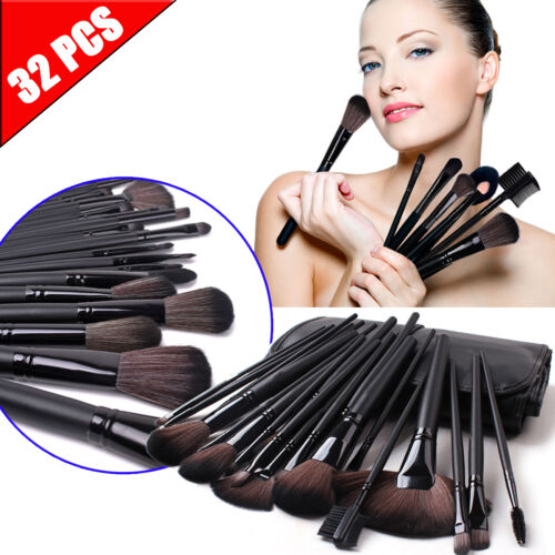 Изображение товара 32pcs Professional Cosmetic Soft Eyebrow Shadow Makeup Brush Set Kit +Pouch Case
