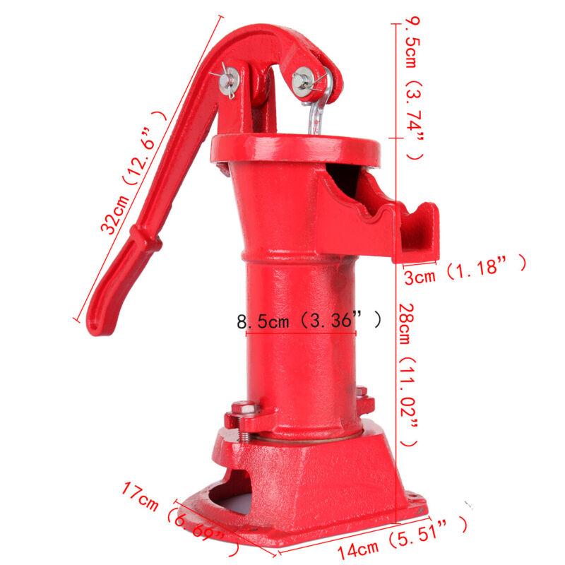 Samger Hand Pump Cast Iron Well Water Pitcher Press Suction