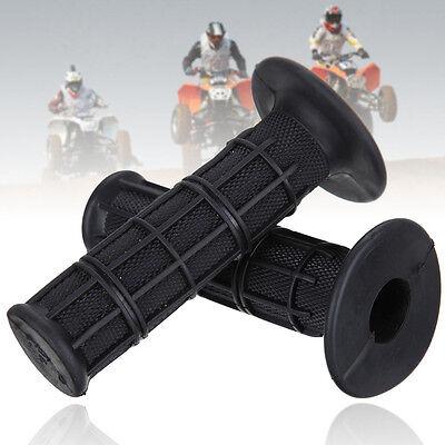 """Universal Rubber 22mm 7/8"""" ATV Dirt Bike Hand Grips Handlebar For Honda Suzuki"""