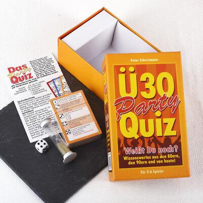 Ü-30 Party-Quiz Spiel für Erwachsene 2-6 Spieler 30. Geburtstag Geschenk Spaß