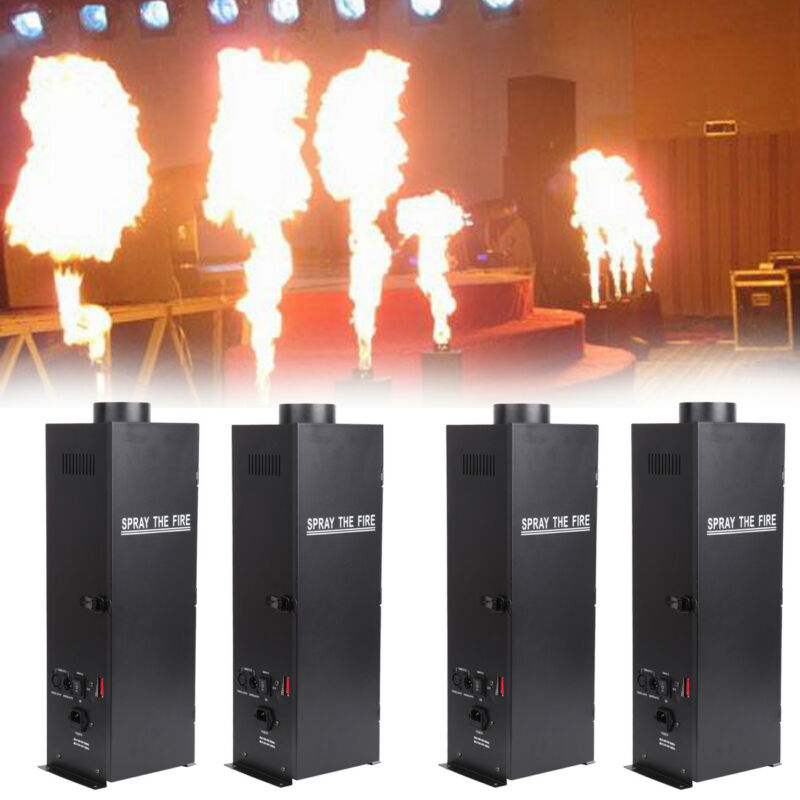 4X DMX Fire Effect Projector Spray Machine DJ Stage Show Party Flame Thrower