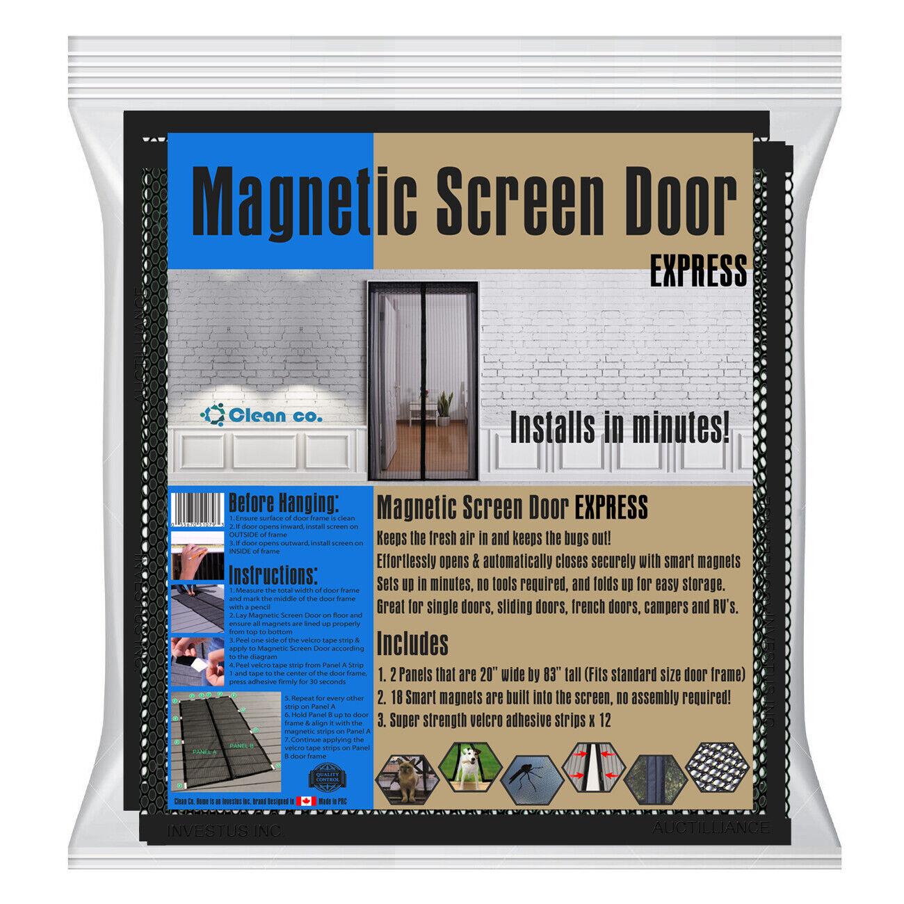 Mosquito Door Net Mesh Screen Bug Fly Pet Patio Hands Free M