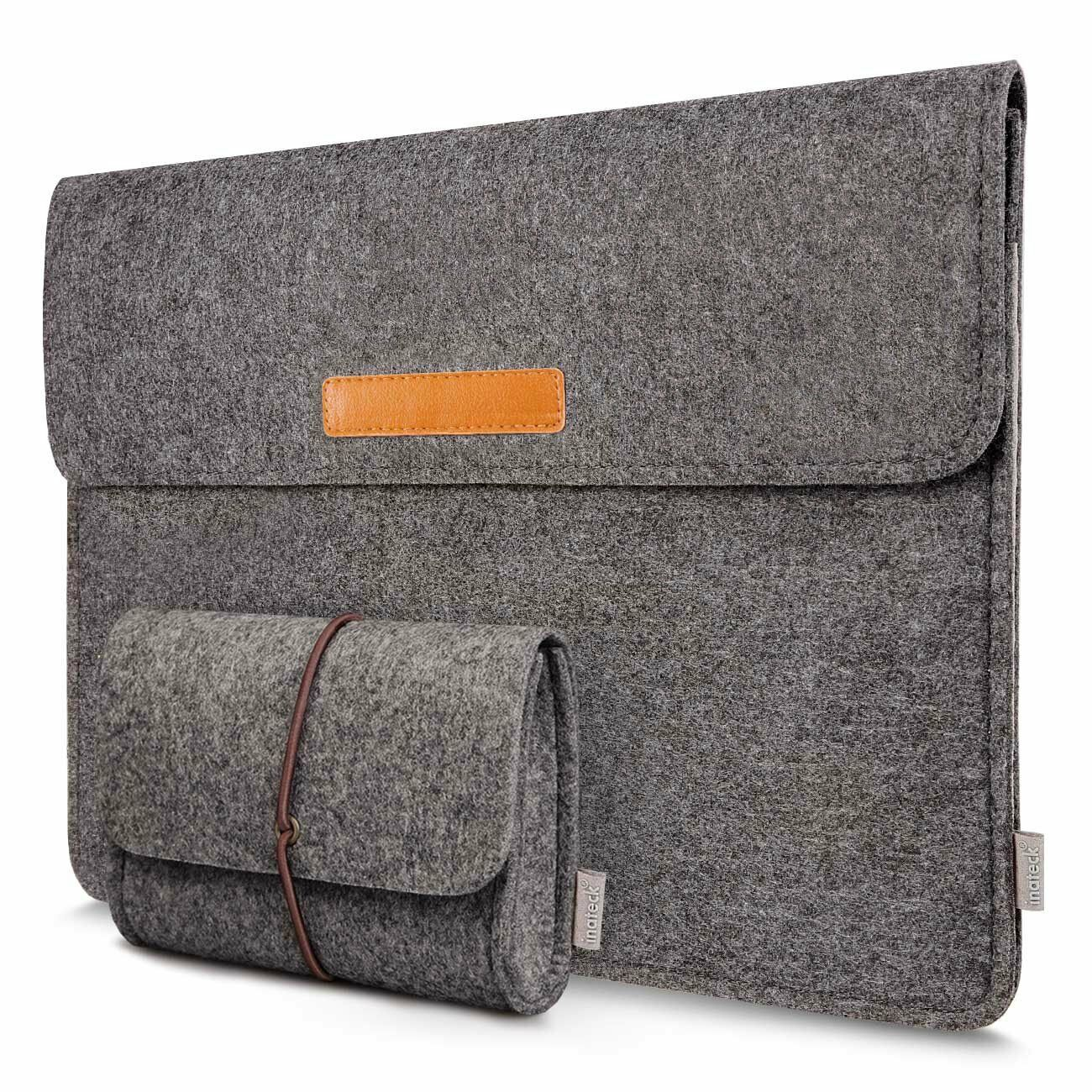 Inateck 13,3 Zoll Laptop-Tasche Filz Sleeve Hülle Kompatibel mit MacBook Air