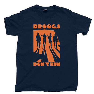 DROOGS DONT RUN T Shirt Kubrick A Clockwork Orange Droog Mask Tee Costume Poster