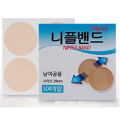 104 Pcs(39mm) Men Nipple Manner Cover Band Wide Sticker Patch Pad Hide Nipple