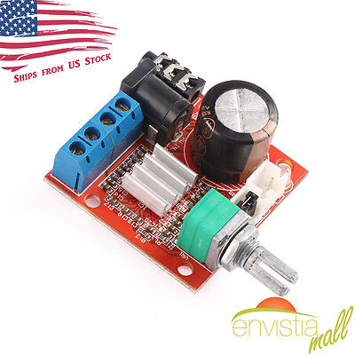 PAM8610 Mini 10W+10W Stereo Audio Power Amplifier Board Module w/ Volume (Audio Volume Control)