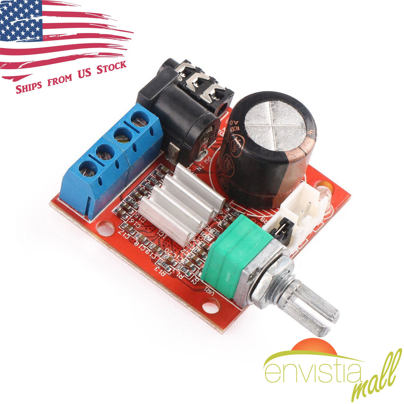PAM8610 Mini 10W+10W Stereo Audio Power Amplifier Board Modu