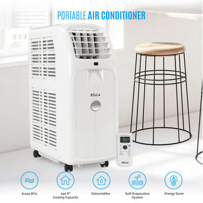 8000BTU Portable Air Conditioner 86 Pint Dehumidifier Fan Wi