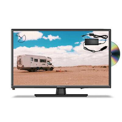 """EMtronics 22"""" Full HD 1080p 12v TV with DVD, Satellite Tuner and 12v / 24v Cable"""