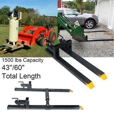 4360 Clamp On 1500 Lbs Capacity Pallet Forks Loader Bucket Skidsteer Chain