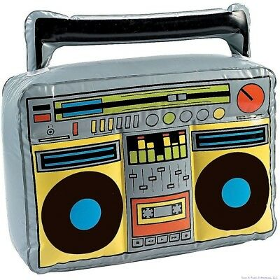 80's BOOM BOX RADIO Inflatable Blow Up Speaker - Hip Hop Music Player Party Toy