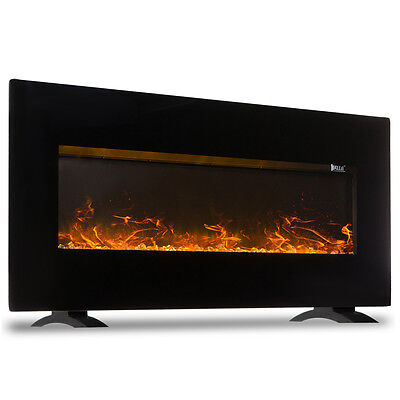 """1500W Fireplace Wall Mounted + Stand Electric Flat Panel Heater + Remote, 50"""""""