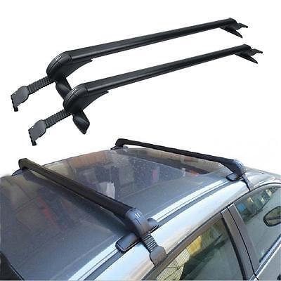 Car Roof Rack No Rails Cross Bar Clamp w/ Anti-theft Lock For Toyota Camry Sedan