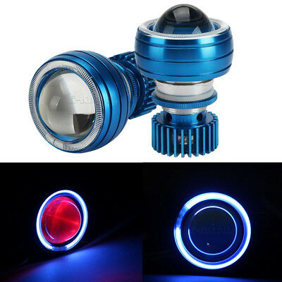 Motorcycle LED Projector Headlight High Low Beam Angel/Demon Eye Light Lamp Bulb
