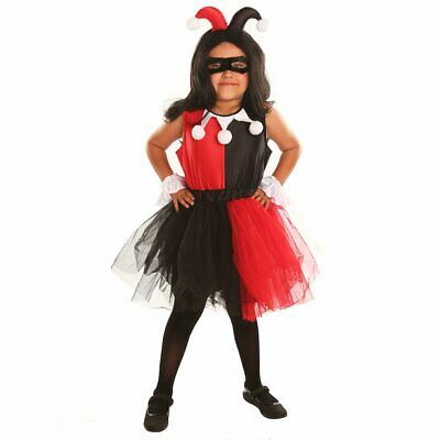 Harley Quinn Clown Halloween Costume for Girl Fancy Ball Christmas Party Cosplay - Clown Costume For Girl