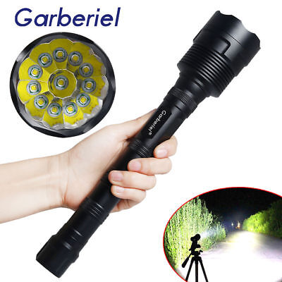 Garberiel 80000LM 12x T6 18650 Super Bright LED Tactical Flashlight Police Torch