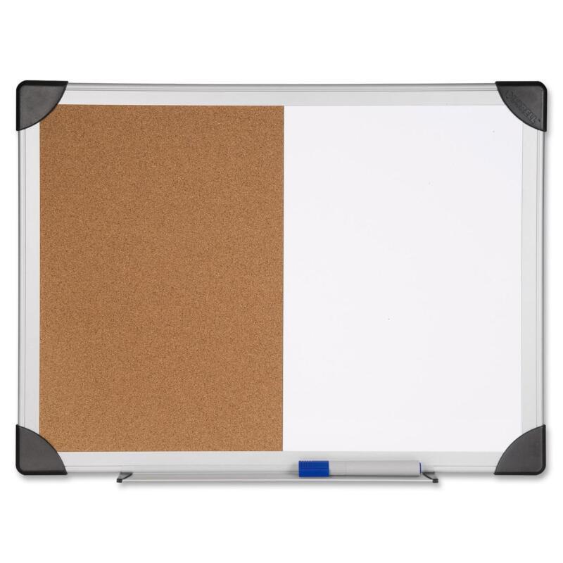 "Lorell Combo Board Dry-Erase/Cork 24""x36"" Aluminum Frame 19291"