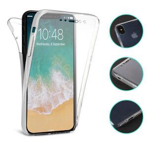 iPhone-X-360-Completo-Protector-Carcasa-Funda-TPU-Trasera-amp-delantera-transparent