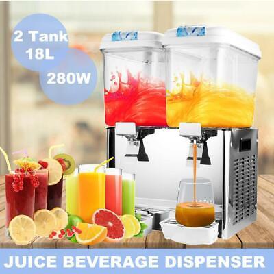 9.5 Gallon Cold Juice Beverage Dispenser Refrigerated Cooler Drinks Bubbler 18l