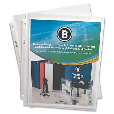 Business Source Sheet Protectors Top Load 2.4 Mil 11x8-12 50bx Clear 32357